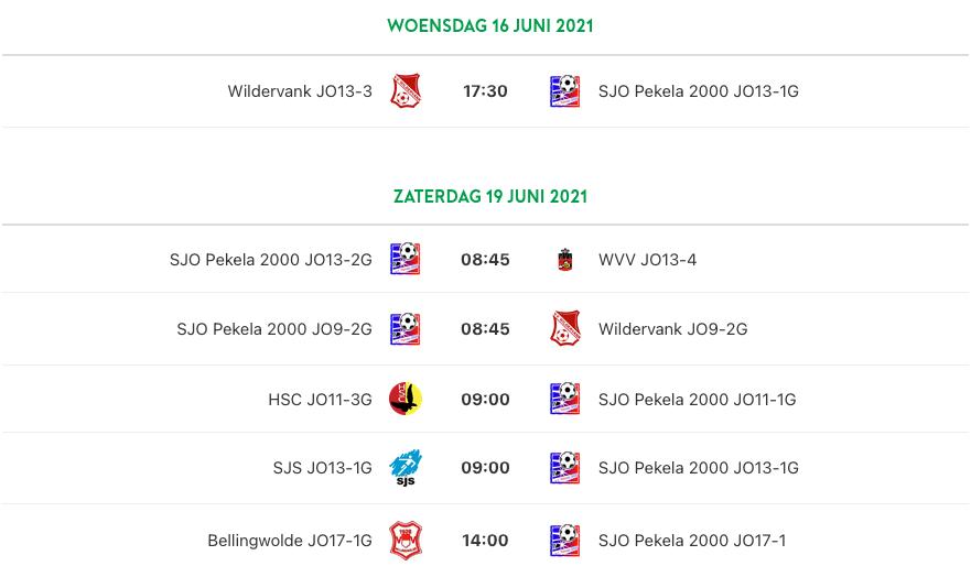 Regiocup 16 & 19 juni 2021